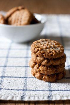 flourless peanut butter ginger cookies