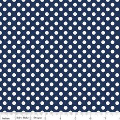 Riley Blake cotton jersey knit small navy small dots fabric 58 inch wide via Etsy