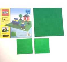 Lot of 4 Lego Base Plates 32 x 32 and 16 x 16 Green 10 inch 5 inch Clean 626 #LEGO