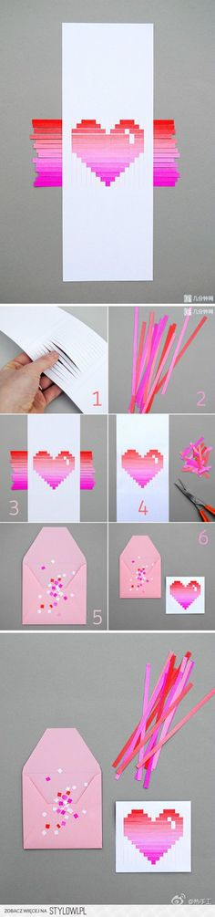 DIY handmade origami paper art paper series teaches you love, is not it simple?Origami Archives - Page 3 of 11 - My Crafts Your CraftsDIY Paper Heart Card love girly cute girl heart pretty diy diy projects diy craft diy paper heart gifts made decorat Cute Crafts, Diy And Crafts, Craft Projects, Crafts For Kids, Arts And Crafts, Creative Crafts, Easy Crafts, Rock Crafts, Diy Paper