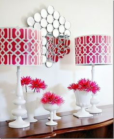 This mirror is made from DOLLAR STORE COMPACTS! So easy and such a fun project!