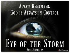 """Always remember, God is always in control. Watch Ryan Stevenson's music video Eye of the Storm as part of our """"Storm Training."""""""