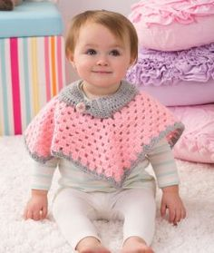 Sweet Baby Poncho ~  Kristin Stoltzfus - Red Heart