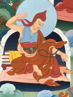 Chandrakirti (Tib. ཟླ་བ་གྲགས་པ་, Dawa Drakpa) — a renowned Indian scholar who was born in the early seventh century. He is the author of Introduction to the Middle Way, Clear Words, and other key works of the Prasangika Madhyamika.  #ColoringForMeditation #TibetanArt #TibetanColoring #Thangka #BuddhistArt #BuddhistColoring