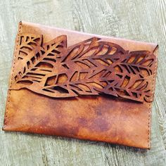 DSCHUNGLE Clutch / Handbag / Ipad Case 100% Leather by AfriDiva
