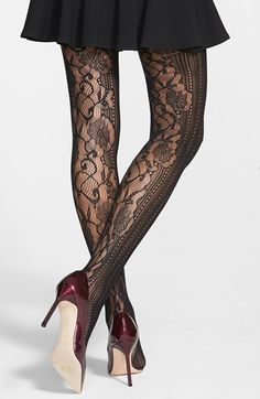 Free shipping and returns on Commando 'Paris Stripe' Floral Tights at Nordstrom.com. Lacy floral tights add a saucy element to your favorite skirt. Commando's patented raw-cut waistband ensures a smooth, comfortable fit.