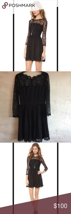 NWOT Juicy Couture Lace Long Sleeve Dress Juicy Couture Lace long sleeve dress. New without tags, never worn. Bought off Shopbop. Size 2. Juicy Couture Dresses