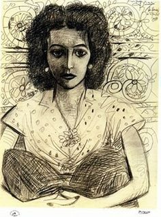 Pablo Picasso, Inès assise on ArtStack #pablo-picasso #art