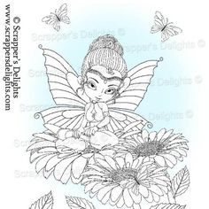 Many of you asked if I could sell some of the images within the digital colouring book  separately and in all formats so here they are.  1 Design 3 Images in total  JPG & PNG format  THIS IMAGE IS WITHIN THE  Fairies And Pixies V1 Colouring Book Digital Download http://scrappersdelights.com/store/index.php?main_page=product_info&cPath=211&products_id=967   Simply print and colour in as you would a traditional rubber stamp or leave clear Perfect for Stitching, Painting, Colouring and Tracing…