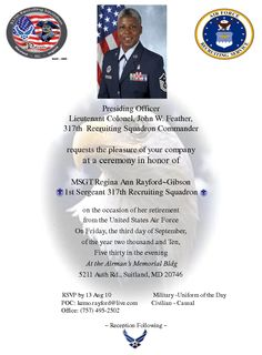 army retirement ceremony biography example | just b.CAUSE