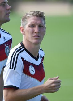 Basti looking dramatically into the distance at training session