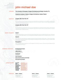 Resume  Zoom  Theme CustomizableProfessional Architecture