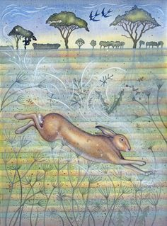 Spring Hare (print)