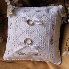 Hardanger Embroidery Wedding Ring Bearer by DavidsLederLaden, $99.99