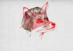 curious art of Hong Kong based illustrator Peony Yip (The White Deer) Art And Illustration, Gravure Illustration, Wolf Girl, Art Design, Art And Architecture, Peonies, Hong Kong, Cool Art, Sculptures