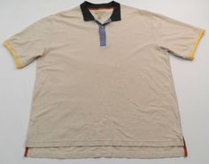 Territory Ahead Textured Polo Shirt Mens XL Short Sleeve Beige 100% Cotton #TerritoryAhead #PoloRugby