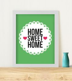Home Sweet Home Print from Made It seller Typomaid