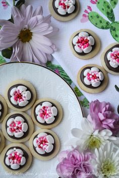 Chocolate Covered Russian Rose Shortbread