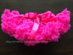 hot pink tutu hot pink pettikskirt baby girl by BabyBonbonBoutique