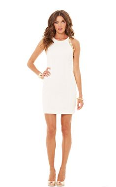 Chrissy Sleeveless Shift Dress