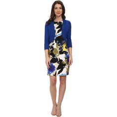 Jessica Howard Sleeveless Belted Dress Women's Dress, Navy ($63) ❤ liked on Polyvore