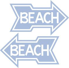 Burton Avenue: Freebie Friday - Graphic- Beach w/Arrow- use to make a sign or a cute Beach Bag!