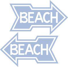 Burton Avenue: Freebie Friday - Graphic-     Beach arrow- use the graphic to make a sign or a cute Beach Bag!