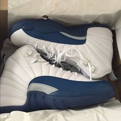 Retro 12 White & Blue Shoes Sneakers