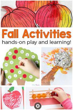 These fall activities for kids are all hands-on and super fun. From apples to pumpkins to leaves and more, these fall activities are sure to be a hit with the kids!     via @danielledb
