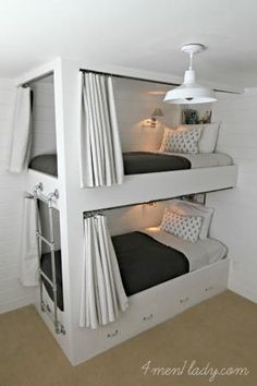 Built in Bunk Beds. 4men1lady.com by janis
