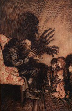 Arthur Rackham illustration for Rip Van Winkle