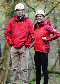 The sporty royals on a visit to the Towers Residential Outdoor Education Centre in Capel Curig, North Wales, with her husband