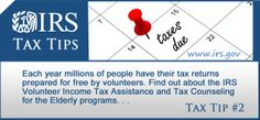 Each year millions of people have their tax returns prepared for free by volunteers through the IRS' Volunteer Income Tax Assistance and Tax Counseling for the Elderly programs. #taxes #taxprep #VITA #TCE