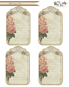 glenda's World : Old Rose Journal Tags