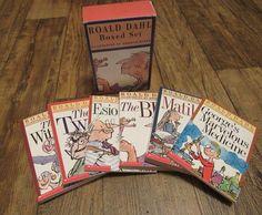 Vintage Roald Dahl Boxed Set 6 Books Scholastic 1996 Quentin Blake
