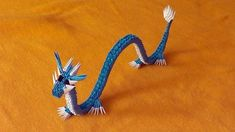 origami Chinese dragon tutorial (video with a surprise ending). origami blue Chinese dragon tutorial, pokemon Gyarados (video with a surprise ending) DIY Step by step production, master class We show how to make dragon (gyarados the pokemon) out of 3d Origami Swan, Origami Horse, Origami And Kirigami, Origami Dragon, Origami Butterfly, Origami Animals, Paper Crafts Origami, Oragami, Origami Paper