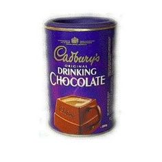 Cadbury Drinking Chocolate is a delicious hot chocolate drink. For that perfect cup sprinkle three heaped teaspoonfuls into a cup of hot milk and enjo. Chocolate Shop, Best Chocolate, Chocolate Lovers, Hot Cocoa Mixes, Perfect Cup, Coffee Cans, Gourmet Recipes, Childhood Memories