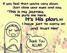 syukur Alhamdulillah, bersujud aku kepadaMu, Ya Allah maha besar!