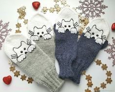 Knit Mittens, Nordic Style, Fingerless Gloves, Arm Warmers, Christmas Stockings, Knit Crochet, Knitting, Holiday Decor, Pattern