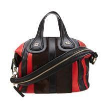Givenchy Medium Multi-Material Striped Nightingale Satchel