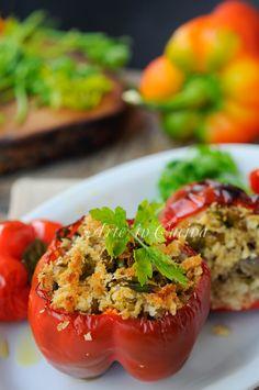 Peperoni ripieni con mollica ricetta siciliana vickyarte arte in cucina