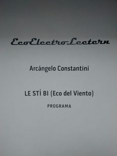 Eco electro lectern. Arcángelo Constantini