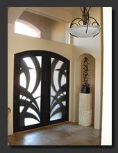 Modern Front Doors | ... contemporary accessories and hand forged iron doors, shutters, pools