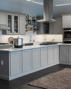 Don't dismiss more subtle gray hues when planning your kitchen remodel. A soft dove-gray color palette can create a tranquil environment and unify the space better than a medley of hues.