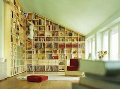 have a sloping ceiling in my living room and love, love, love these bookcases!