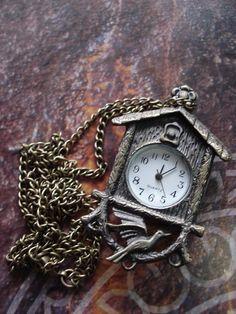 Clock Hourglass Time:  Bronze pendant #watch, by Azuraccessories.