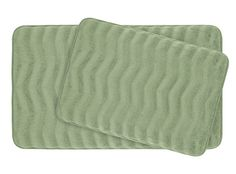 Bounce Comfort Waves Extra Thick Memory Foam Bath Mat Set - Plush 2 Piece Set with BounceComfort Technology, 20 x 32 in. Sage