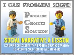 I Can Problem Solve Social Narrative and Lesson by StudentStrategies