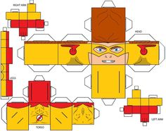 #Cubee #Craft #Fan #Art. (Cubee Craft Kid Flash DC Super Heroes) By: Handita2006. ÅWESOMENESS!!!