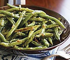 My daughter made these for us last night while she is home from college and they are too die for good! Heaven! Even her younger brothers ate them. Honey, soy sauce, and a little butter are the secret added to fresh green beans. We will be making these regularly! She said she often cooks a chicken breast in with this and has green bean chicken for dinner!!! What a smart young lady we've raised!